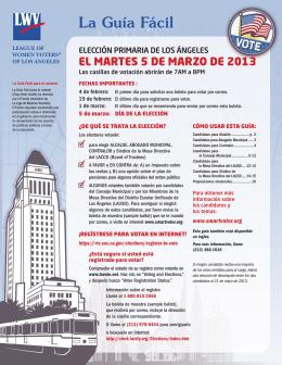 La Guía Fácil - League of Women Voters of Los Angeles