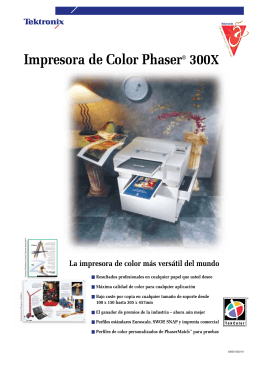 Impresora de Color Phaser 300X