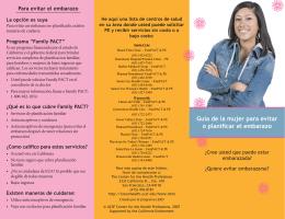 Guía de la mujer para evitar o planificar el embarazo