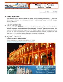 México – Sede Península Guía del Finalista
