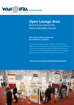 Open Lounge Area - WAN-IFRA
