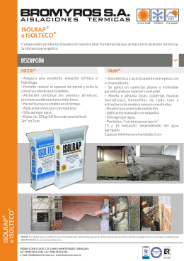 folleto isolrap isolteco