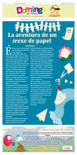 La aventura de un trozo de papel