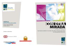 Folleto de la exposición en Mérida