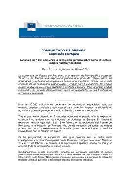 COMUNICADO DE PRENSA Comisión Europea Del 12 al 18 de