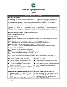 Unidad 2.4: Las características de la Energía