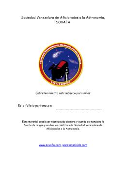 Entretenimiento Astronomico para Kids