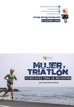 Folleto divulgativo charla Mujer y triatlón, estrategias para su