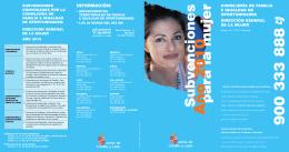 Folleto informativo de las subvenciones 2010