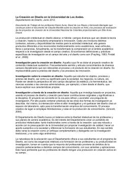 La Creación en Diseño en la Universidad de Los Andes V3.8