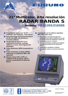 """21"""" Multicolor, Alta resolución RADAR BANDA S"""