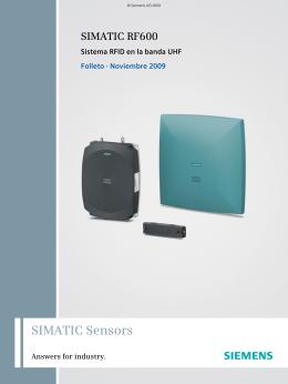 SIMATIC RF600 - Sistema RFID en la banda UHF
