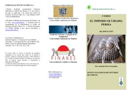 EL IMPERIO OLVIDADO, PERSIA - Universidad de Castilla