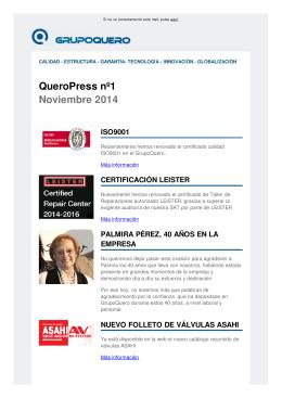 QueroPress nº1 Noviembre 2014 ISO9001