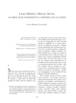 LAURA MÉNDEZ Y MANUEL ACUÑA: UN IDILIO (CASI OLVIDADO