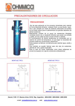 FOLLETO PRECALENTADORES DE CIRCULACION