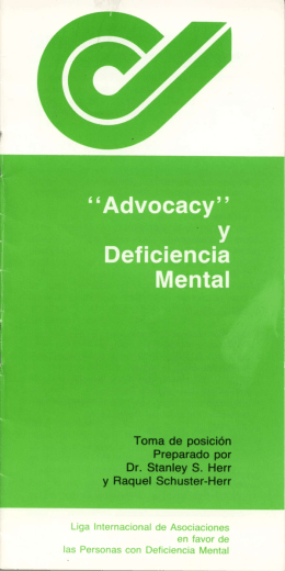Advocacy y deficiencia mental