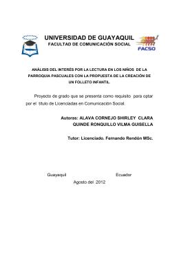 UNIVERSIDAD DE GUAYAQUIL Tésis Shirley Alava y Guisella