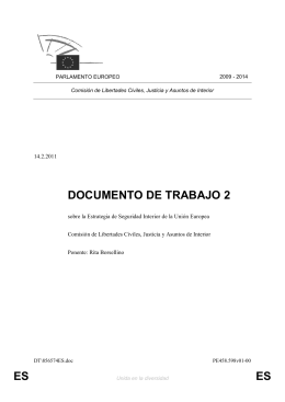 ES ES DOCUMENTO DE TRABAJO 2