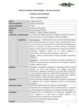 PRÁTICA DE ENSINO SUPERVISIONADA – Ano letivo 2012/2013