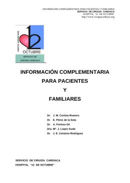 información complementaria para pacientes y familiares