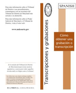 Transcripciones y grabaciones