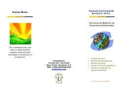 detalles... - Honduras Environmental Services, S. de RL