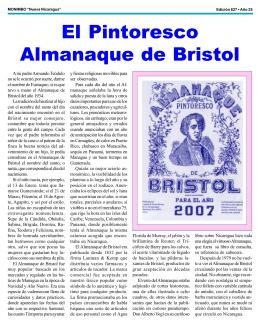 El pintoresco Almanaque de Bristol