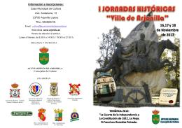 Casa Municipal de Cultura Avd. Andalucía, 13 23750 Arjonilla