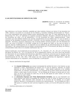 Telefax E29/2001 - Banco de México