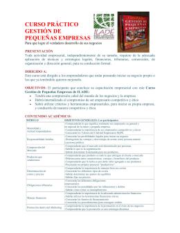 curso práctico gestión de pequeñas empresas