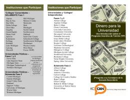 Dinero para la Universidad
