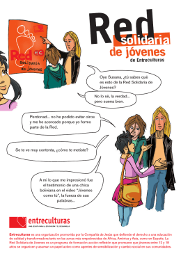 Folleto Red Solidaria de Jóvenes Entreculturas