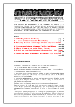 NUMERO 147 – DICIEMBRE AÑO 2012 – 1ra. QUINCENA ESTE