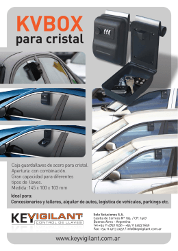 Folleto KV Box para cristal