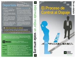 El Proceso de Control al Dopaje