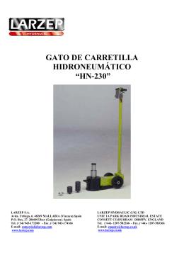 """gato de carretilla hidroneumático """"hn-230"""""""