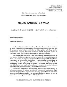 MEDIO AMBIENTE Y VIDA Martes