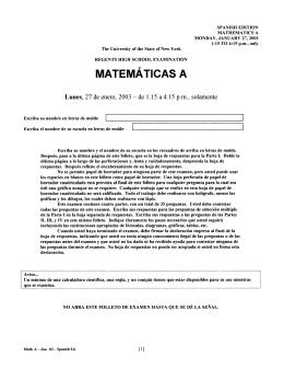 MATEMATICAS A