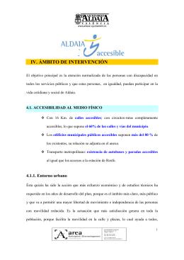 IV. ÁMBITO DE INTERVENCIÓN