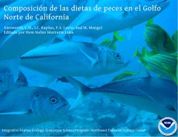 Composición de las dietas de peces en el Golfo Norte de California