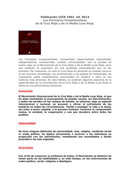 Publicación CICR 1992 ref. 0513 Los Principios Fundamentales de