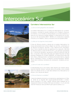 Interoceánica Sur - Bank Information Center