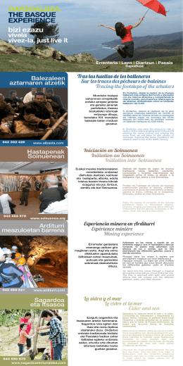 folleto experiencias