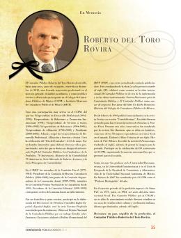 ROBERTO DEL TORO ROVIRA