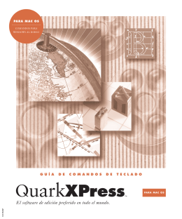 QuarkXPress Keyboard Command Guide for Mac OS