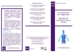 El síndrome de Birt-Hogg-Dubé: Opciones de tratamiento de los