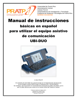 Manual de instrucciones - Programa de Asistencia Tecnológica de