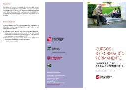 Folleto Cursos Experiencia LOG - Fundación Universidad de La Rioja