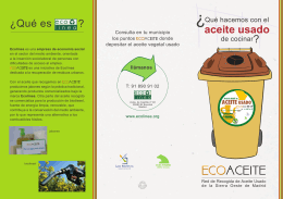 Folleto de ECOACEITE